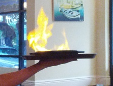 Saganaki on Fire