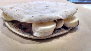 Banana Nutella Pita at Blocks