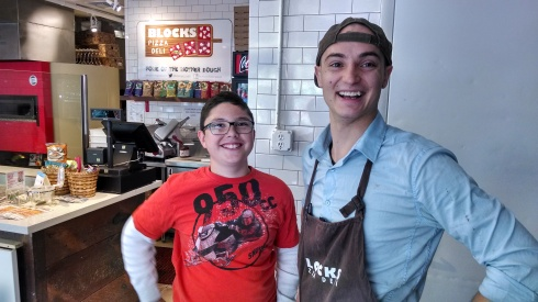 ConnorsTasteBuds and the Pizza Chef at Blocks Pizza Deli